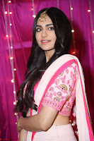 Adaa Sharma in White Pink Saree at Zee Telugu Apsara Awards 2017 18.JPG