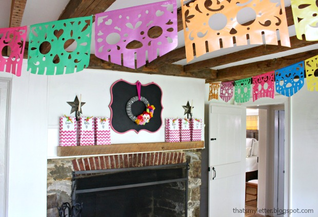 Sugar skull Halloween party banner decoration