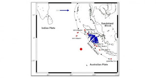 Gempa Mentawai Akibatkan Pergeseran/ bergerak 2cm menurut pakar gempa itb. tidak ber potensi tsunami aceh padang gempa dangkal