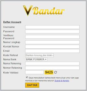 Cara Daftar Judi Capsa Susun Online VBandar.info