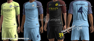 Manchester City Kits 2016/17 Beta Version Pes 2013