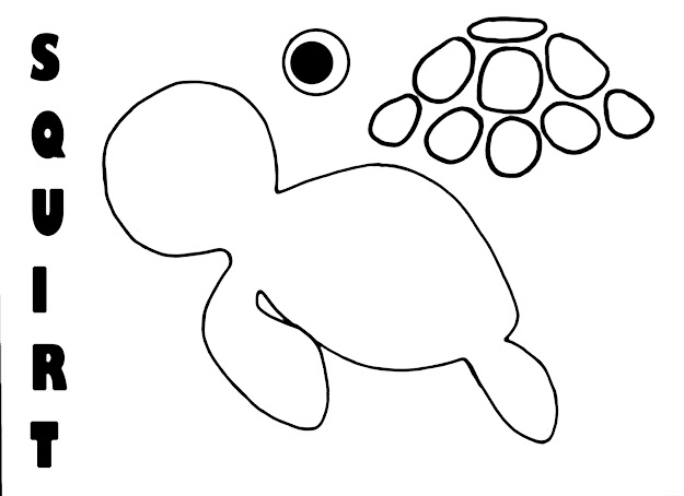 Printable Crush And Squirt Coloring Pages For Preschoolers Posts About Finding  Nemo
