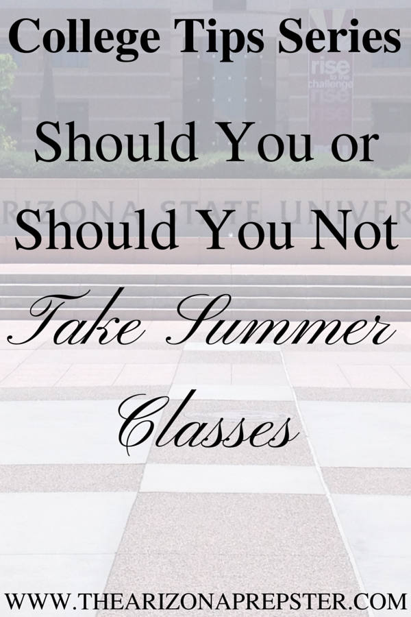 College Tips: Summer Classes