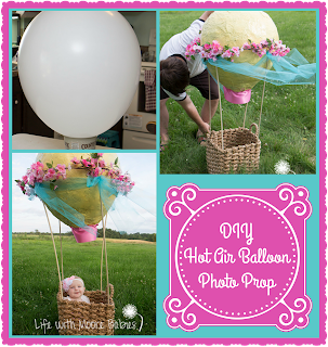 Get Adorable Baby Photos with this DIY Hot Air Balloon Photo Prop