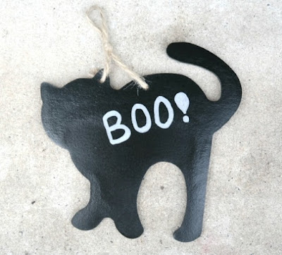 Hand-Painted Black Cat for Halloween
