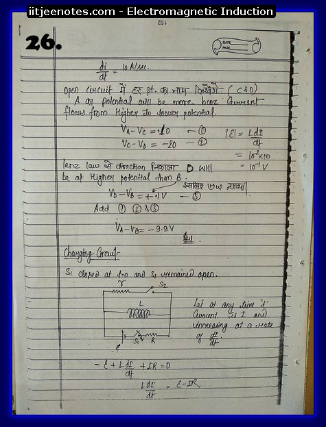 Electromagnetic Induction Notes cbse2