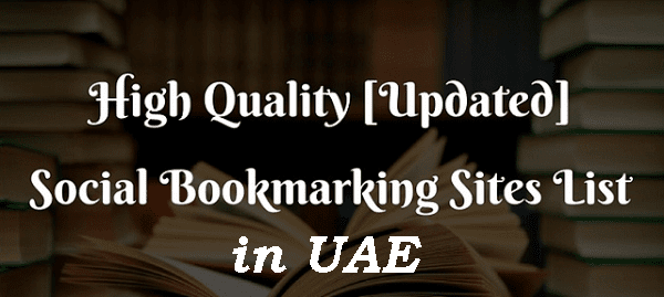 UAE Social Bookmarking Sites List - Super SEO Sites