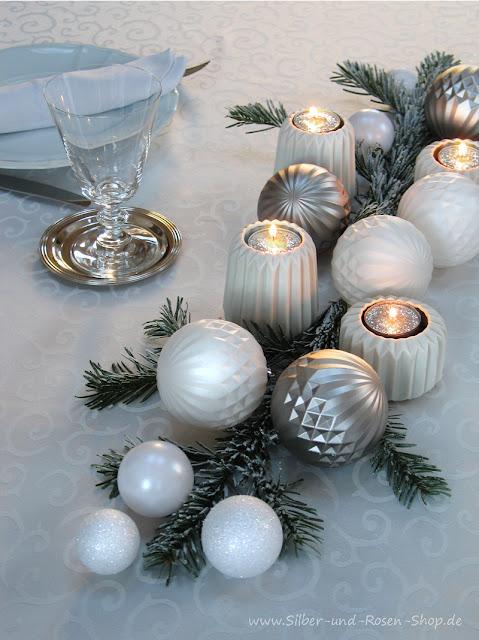 Silber Rosen Blogspot Com 2 X Tischdeko Fur Weihnachten 2 X