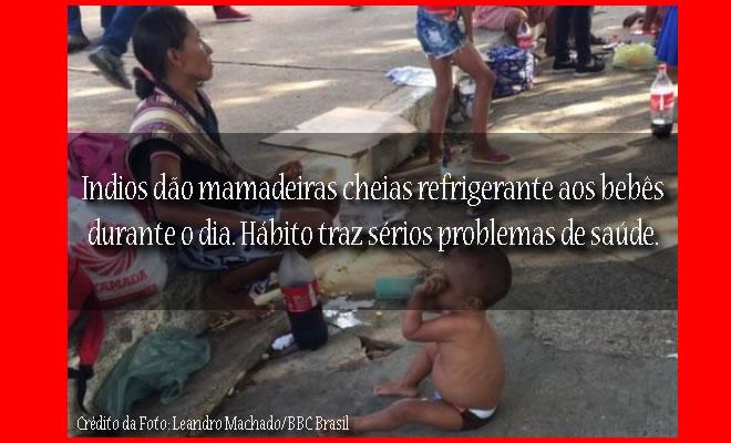 Mamadeiras de refrigerante para bebês indígenas agrava desnutrição.