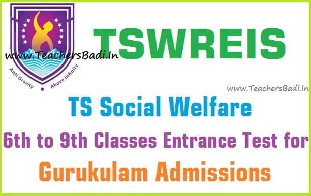 Tswreis 6th,7th,8th,9th classes,Entrance test 2017,ts social welfare admissions