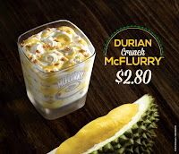 McDonald's Singapore Durian McFlurry