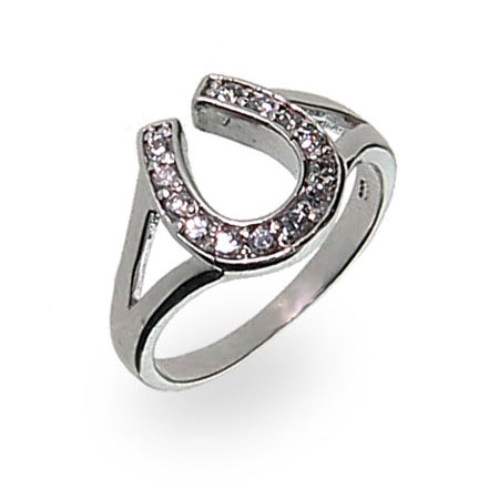 Obsessed Over Stones Unique Horse Shoe Diamond Finger Ring