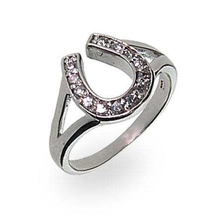 Obsessed Over Stones Unique Horse Shoe Diamond Finger Ring