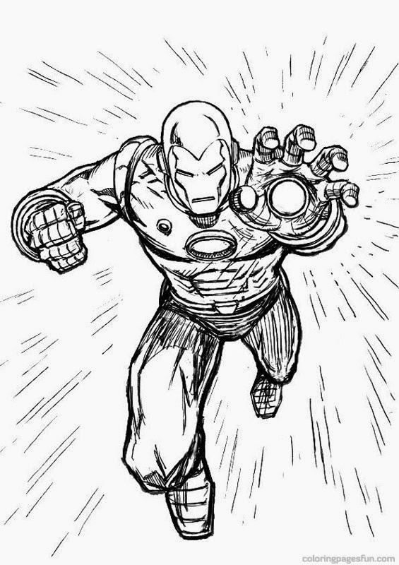 Avengers Ausmalbilder Zum Drucken: Ausmalbilder Zum Ausdrucken: Ausmalbilder Iron Man Zum