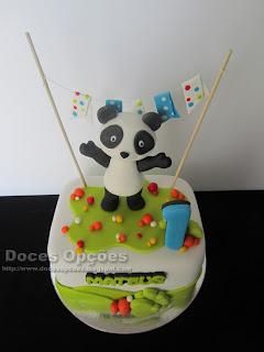 bolo aniversário panda bragança