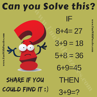 It is logical math equations and answers puzzle for kids in which your task to solve given equations and then find the missing number