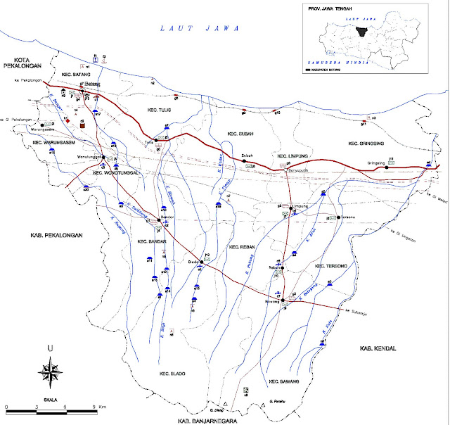 Peta Infrastruktur Kabupaten Batang