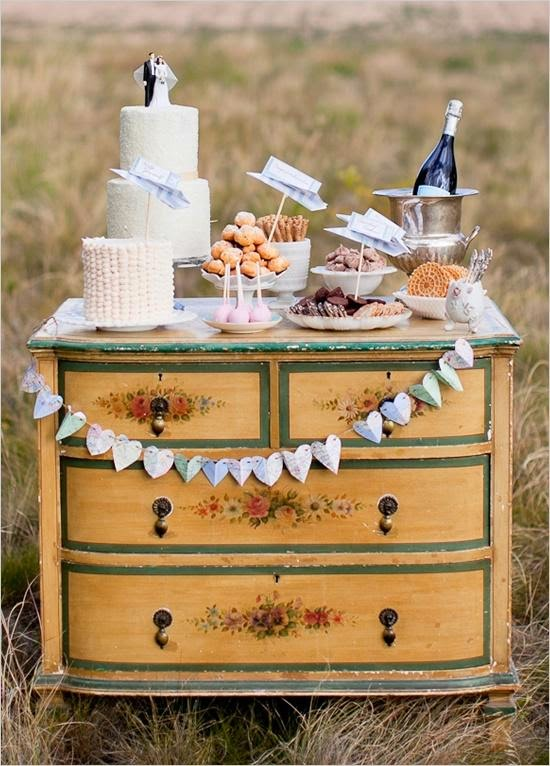 vintage wedding dresser