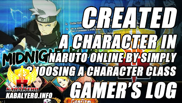 Created A Character In Naruto Online By Simply Choosing A Character Class (Gamer's Log)