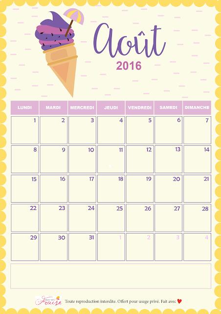 calendrier diy AO--août 2016 ice cream
