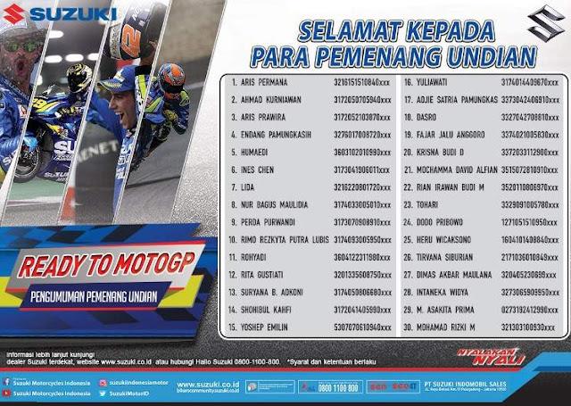 Pemenang Suzuki REady To MotoGP 2018