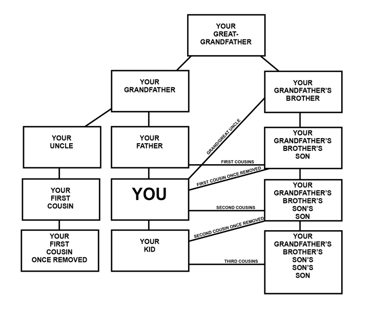 Cousin Once Removed Diagram - Electrical Work Wiring Diagram \u2022