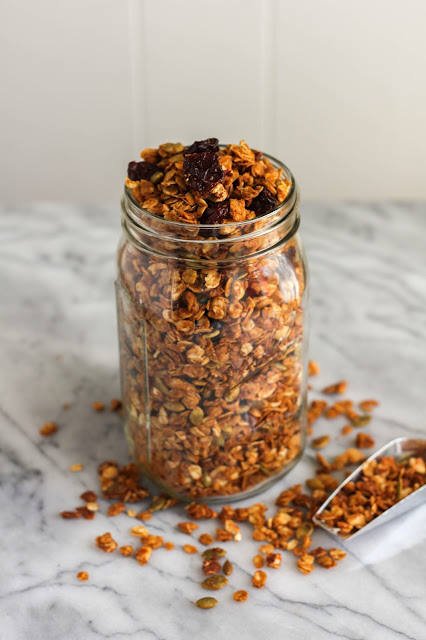 Peanut Butter Harvest Granola | The Chef Next Door #Oatober