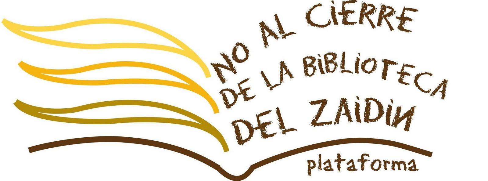 No al cierre de la Biblioteca de Zaidín
