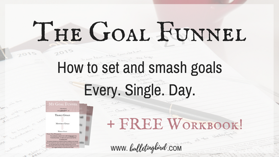 PRODUCTIVITY SERIES: 5: The Goal Funnel - How to set and smash goals every single day.