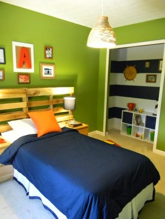 Habitaciones para adolescentes color verde ideas para decorar dormitorios - Habitacion juvenil diseno ...