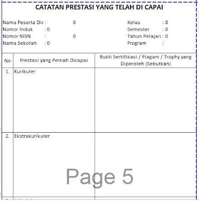 Catatan Prestasi yang telah dicapai siswa pada Raport KTSP SD, http://www.librarypendidikan.com/
