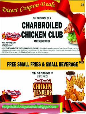 Hardees coupons april 2018