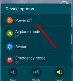Power Off Samsung Galaxy Device