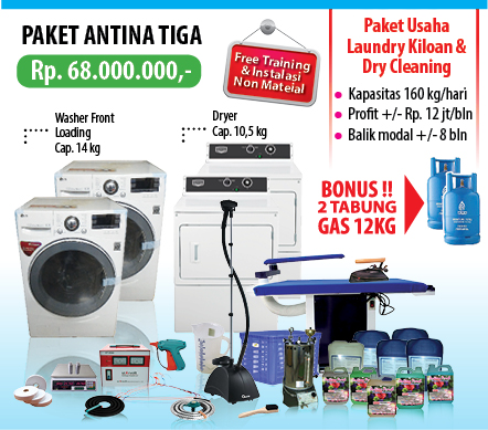 Paket%2BAntina%2BTiga Mau Buka usaha laundry Kiloan,  Satuan,  Rumah Sakit atau Hotel Baca Ini Dulu !