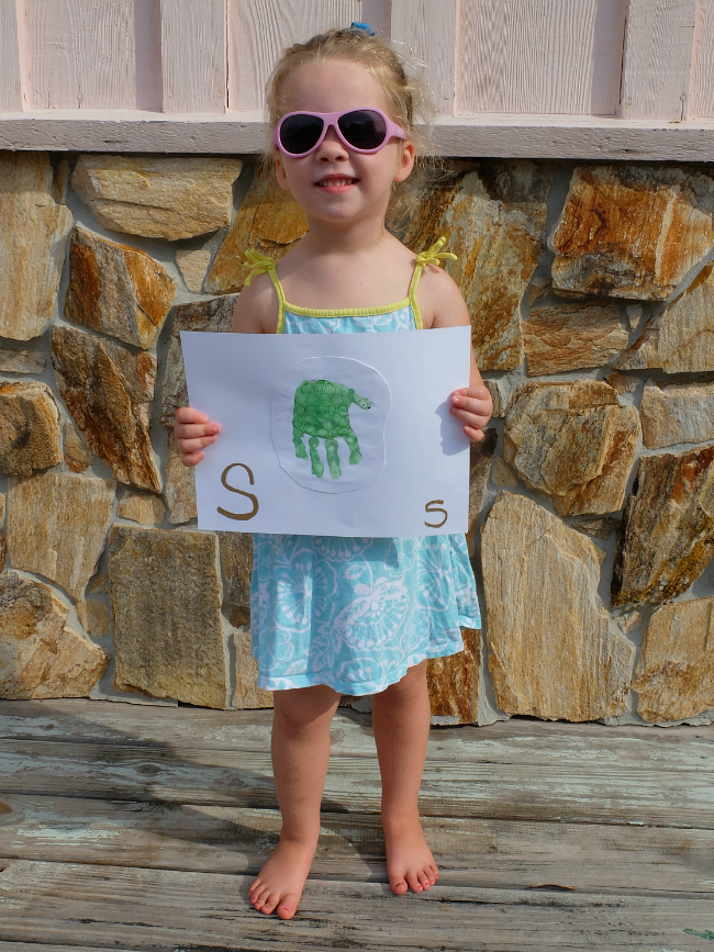 Sweet Turtle Soup: Animal Hand & Foot Print Alphabet Art