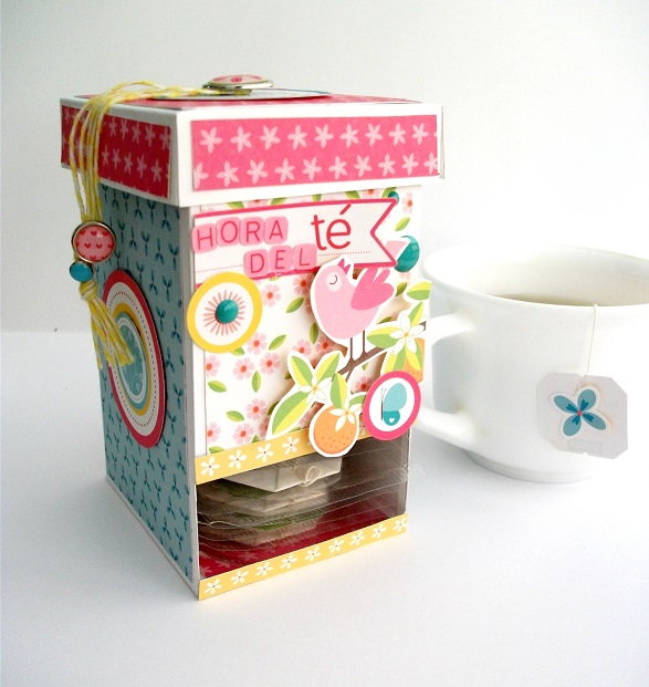 Raquel entre papel c mo hacer una caja dispensadora de - Como hacer una caja para te ...