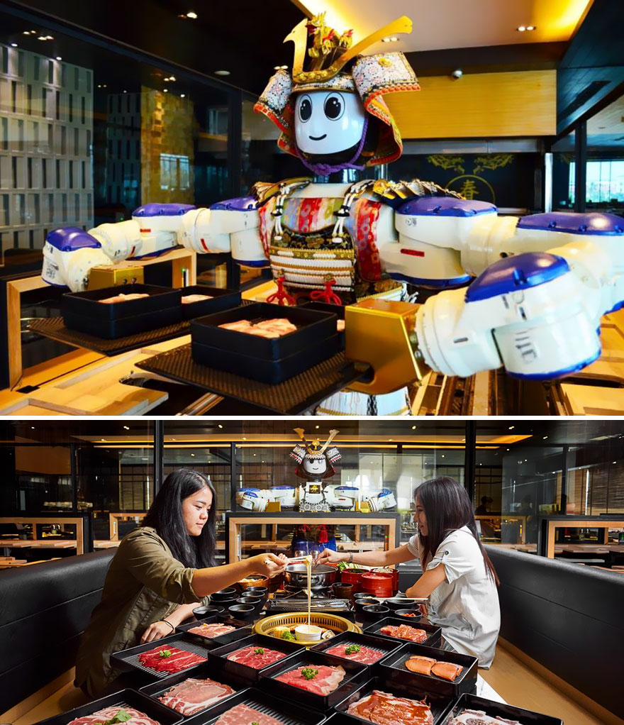 35 Of The World's Most Amazing Restaurants To Eat In Before You Die - Meals Served By A Robot, Hajime Robot Restaurant, Bangkok, Thailand