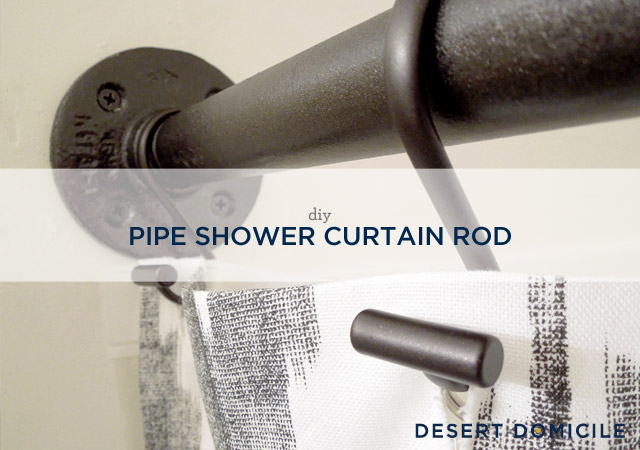 Hang Your Shower Curtain On Newly DIYd Pipe Rod And Smile At The Fact That Its Never Falling Down Again