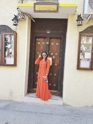 breezy, airy orange maxi dress perfect for summer