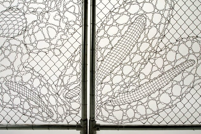 If its hip its here archives turning chain link fencing into craft of lace making with the industrial chain link dutch design house demakersvan has changed the idea of enclosing spaces with their lace fences workwithnaturefo