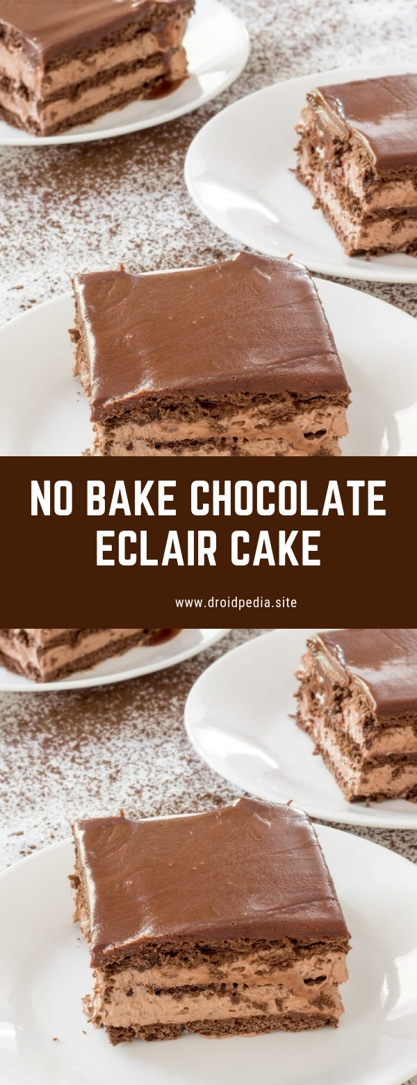 NO BAKE CHOCOLATE ECLAIR CAKE #dessert #cake #chocolate