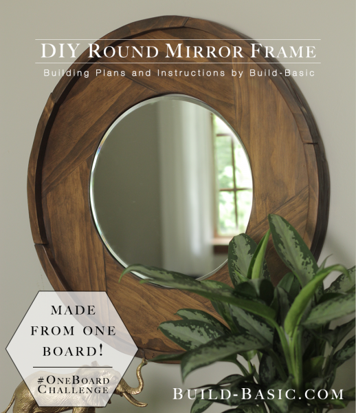 DIY round wood mirror