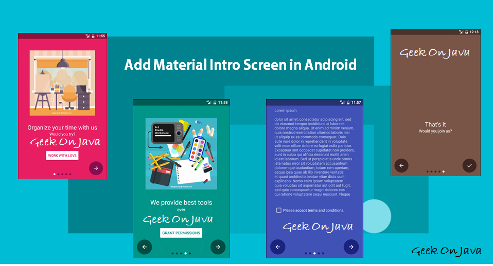 Geek On Java: Add Material Intro Screen in Android