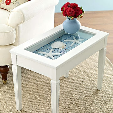 diy beach curio table