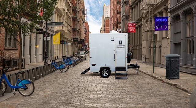 Restroom Trailers New York - The SOHO bathroom trailer by Callahead