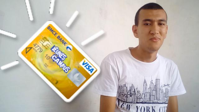 لطلبة بطاقة Jeunes - Visa  شراء وسحب اموال الباي بال