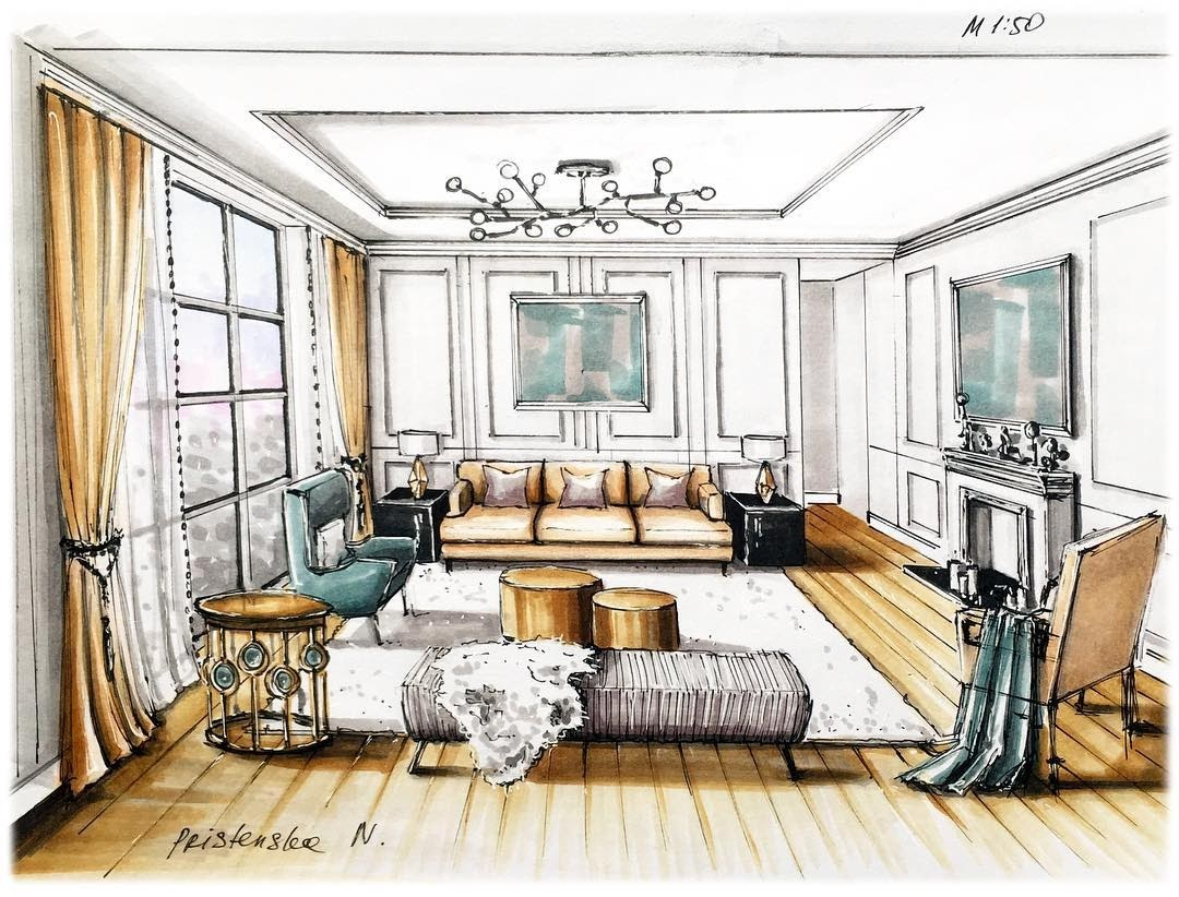 08-Living-Room-Natalia-Pristenskaya-Дизайнер-интерьеров-Interior-Design-Sketches-www-designstack-co