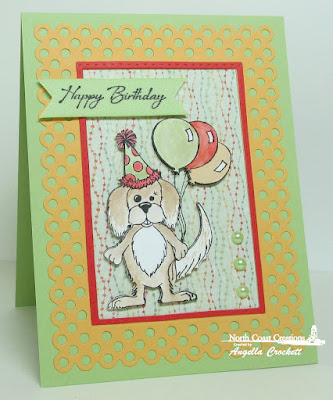 North Coast Creations Birthday Murphy, NCC Deer Silhouette Greetings, ODBD Custom Double Stitched Rectangles Dies, ODBD Custom Rectangles Dies, ODBD Cozy Quilt Paper Collection, Card Designer Angie Crockett