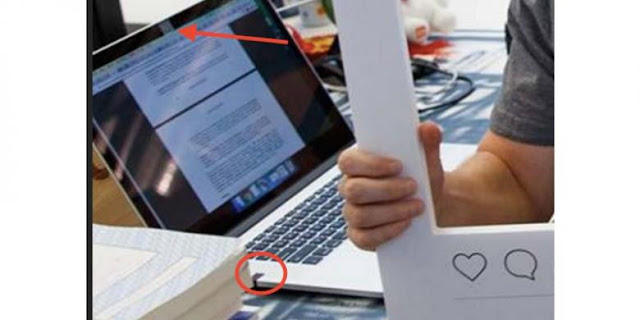 Laptop Mark Zuckerberg Diselotip