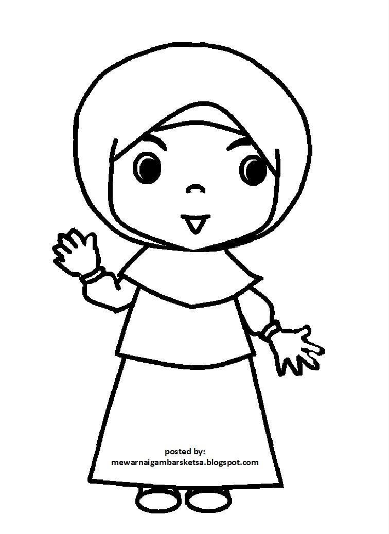 Gambar Animasi Anak Muslim Pergi Sholat Gambar Kartun Anak Muslim Sekolah Kata Kata